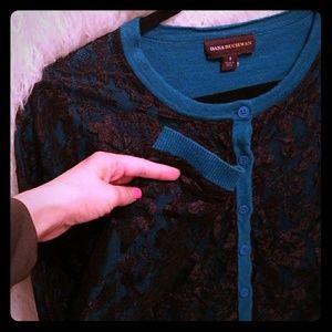 Lace overlay cardigan